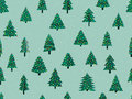 Seamless pattern with Christmas trees in a flat style. Decorated Christmas tree. Vector Royalty Free Stock Photo