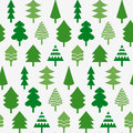 Seamless pattern with christmas trees various Stock Images