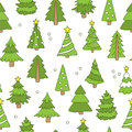 Seamless pattern of Christmas trees