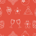 Seamless pattern christmas vector this is file of eps format Royalty Free Stock Photos