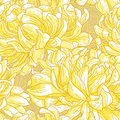 Seamless pattern with chrysanthemum Stock Photo