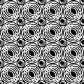 Seamless pattern with circle elements. Stock Images