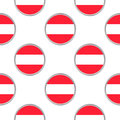 Seamless pattern from the circles with Austria flag