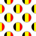 Seamless pattern from the circles with Belgium flag