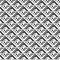 Seamless pattern of circles and rhombuses. Geometric wallpaper.