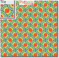 Seamless pattern of circular rings or disks which are overlapped