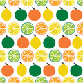 Seamless Pattern Citrus Fruit with slice