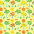 Seamless pattern with citrus jam Royalty Free Stock Image