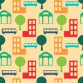 Seamless pattern city abstract simple Royalty Free Stock Images