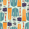 Seamless pattern with clothing hipster Stock Photo