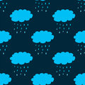 Seamless pattern with clouds and precipitation eps Stock Photo