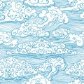 Seamless pattern with clouds vector eps illustration Stock Photos
