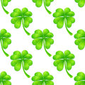 Seamless pattern with clover background green or shamrock Royalty Free Stock Images
