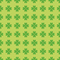 Seamless pattern with clover leaves Stock Images