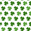 Seamless pattern with clovers leaves for design of St. Patricks Day items