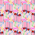 Seamless pattern with coctail drinks