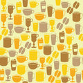 Seamless pattern with coffee cups Royalty Free Stock Photos