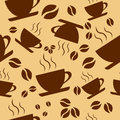 Seamless pattern coffee cups new vector background Royalty Free Stock Photos