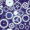 Seamless pattern with cogs and gears Royalty Free Stock Photos
