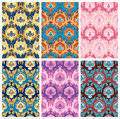 Seamless pattern collection set of damask style patterns Stock Photo
