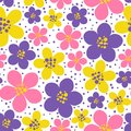 Seamless pattern with color floral ornate