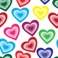 Seamless pattern from color hearts