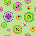 Seamless pattern with colored buttons Royalty Free Stock Photo