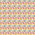 Seamless pattern with colored camomiles Royalty Free Stock Photos