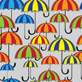 Seamless pattern colored umbrella Royalty Free Stock Image