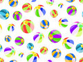 Seamless pattern with colorful beach balls Stock Images