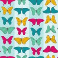 Seamless pattern with colorful butterflies eps vector illustration Royalty Free Stock Images