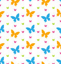 Seamless Pattern with Colorful Butterflies, Repeating Backdrop Royalty Free Stock Photo