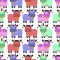 Seamless pattern with colorful cartoon cows sweet Royalty Free Stock Images