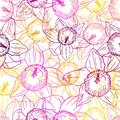 Seamless pattern of colorful daffodils