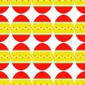 Seamless pattern of colorful bright decorated eggs