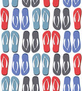 Seamless pattern with colorful flip flops Royalty Free Stock Photo
