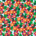 Seamless pattern of colorful flower and leaf background vector illustration Stock Images