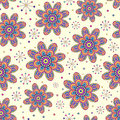 Seamless pattern with colorful flowers Royalty Free Stock Images