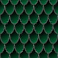 Seamless pattern of colorful green fish scales, dragon skin vector background