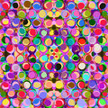 Seamless pattern with colorful grunge circles row of Royalty Free Stock Photo