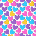 Seamless pattern with colorful hearts cute Stock Photography