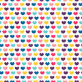 Seamless pattern with colorful hearts little Stock Photography