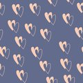 Seamless pattern with colorful hearts for Valentine day. Vector