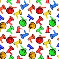 Seamless Pattern Of Colorful M...