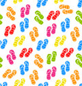 Seamless Pattern Colorful Pairs of flip-flops Royalty Free Stock Photo