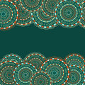 Seamless Pattern with Colorful Round Elements Stock Image