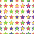 Seamless pattern of colorful stars on a white background star background Stock Image