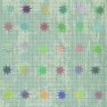 Seamless pattern with colorful texture and stars Stock Images
