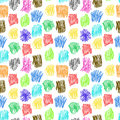 Seamless pattern with colour scrawl for textiles interior design for book design website background Stock Images