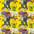 Seamless pattern of comedic Royalty Free Stock Photo